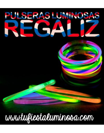Pulseras Luminosas de regaliz