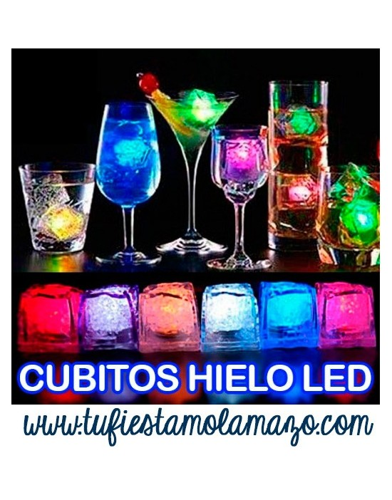 Cubitos heilo luminosos de Led