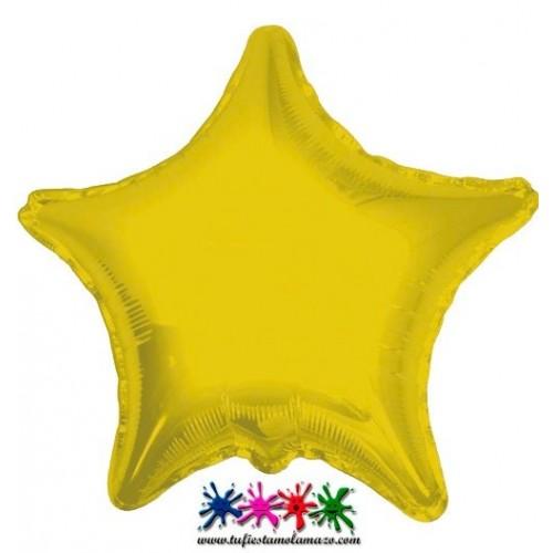Globo de foil con forma de estrella 45 cm.