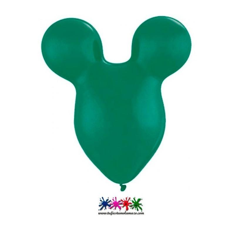 Globo de látex de cabeza de ratón 38 cm.