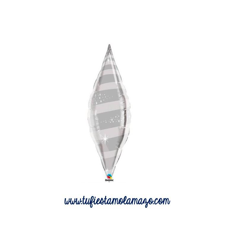 Globo de foil ovalado 96,52 cm
