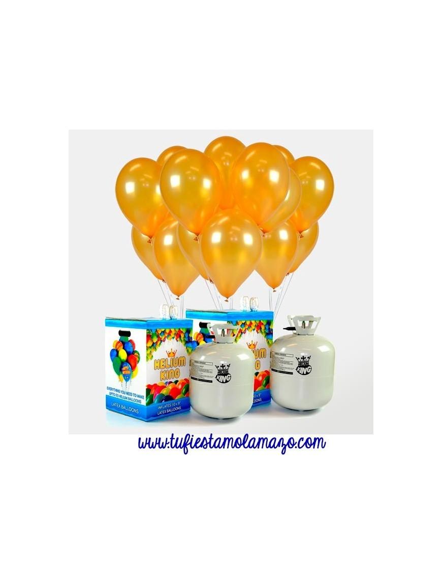 Globos dorados helio