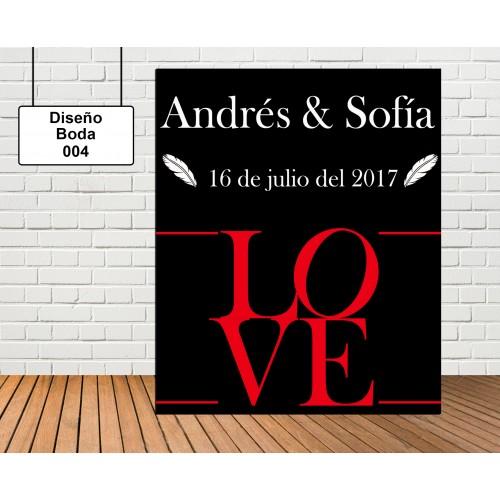 Diseño de boda LOVE