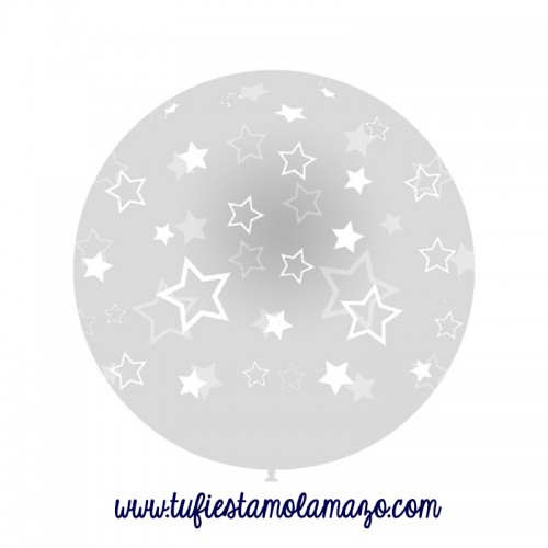 Globos Gigantes transparente con Estrellas 100cm