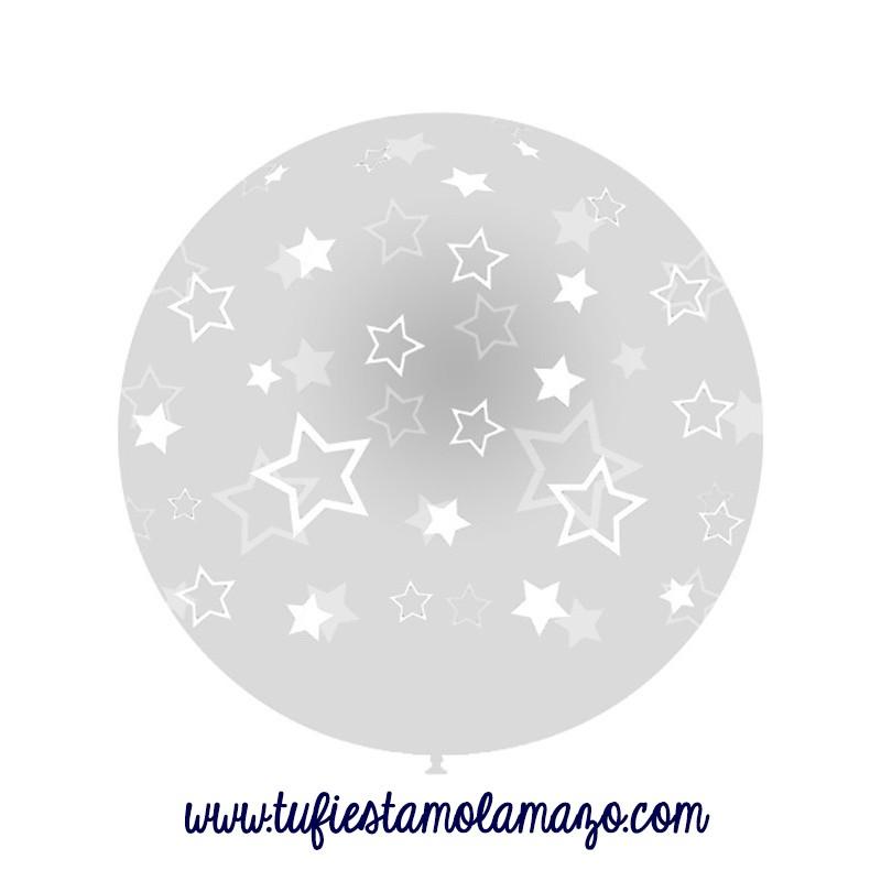 Globos Gigantes transparante con Estrellas 100cm