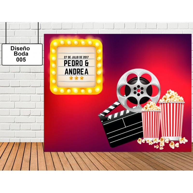 Diseño de Boda de Sala de Cine