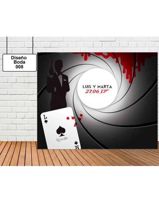 Diseño Boda de Jamen Bond 007