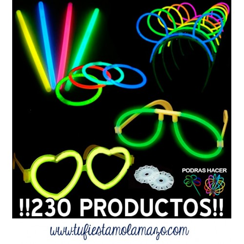 Pack luminosos con 230 productos