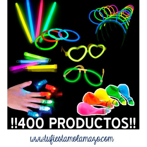 Pack luminoso con 400 productos