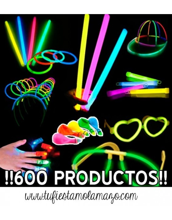 Pack luminoso con 600 productos