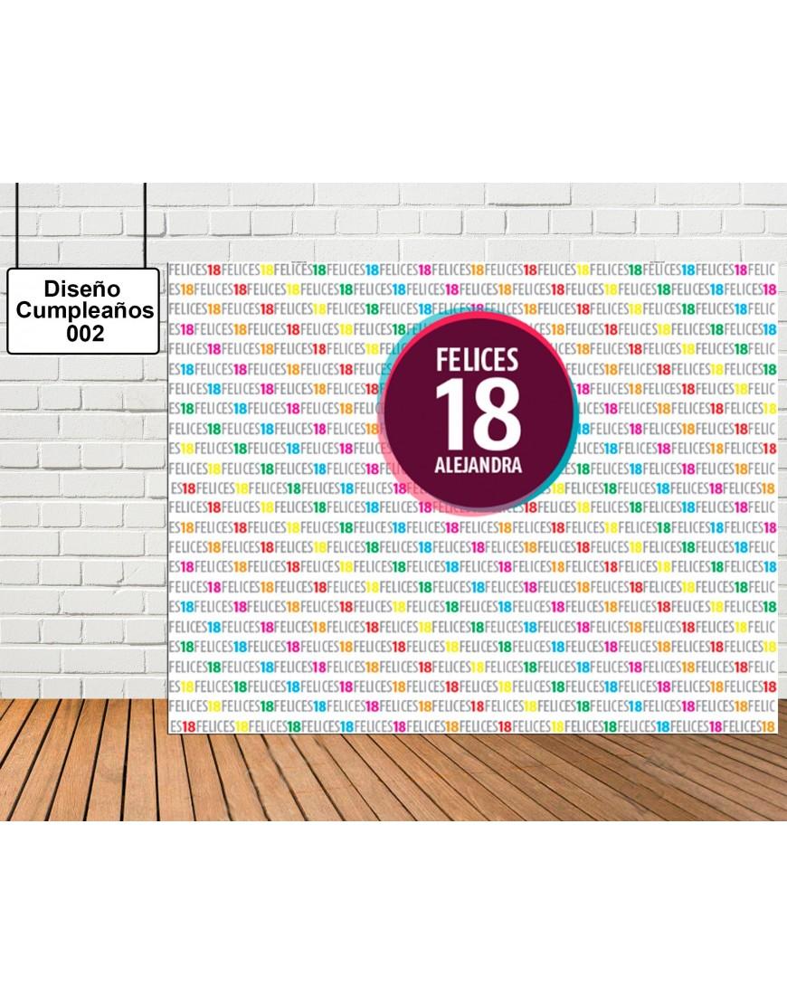 Diseño de photocall cumpleaños de colores