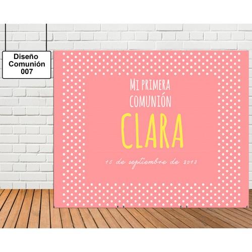 Diseño de Comunión de Niña en rosa