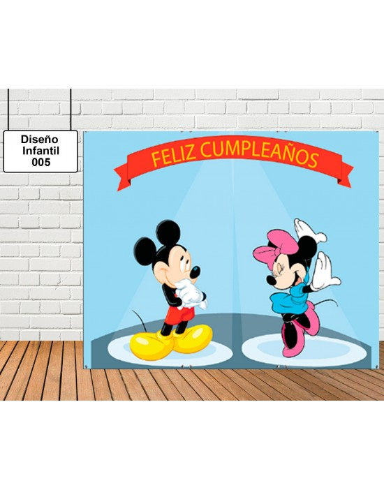 Diseño de photocall Mickey y Minnie