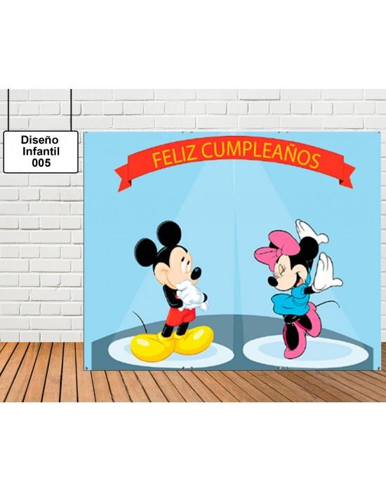 Diseño de photocall Mickey y Minnie