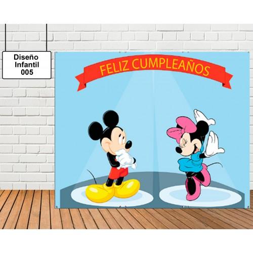 Diseño Infantil de Mickey y Minnie Mouse