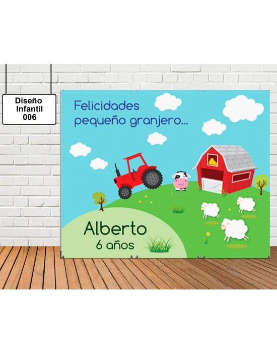 Photocall Diseño Infantil de Tractor
