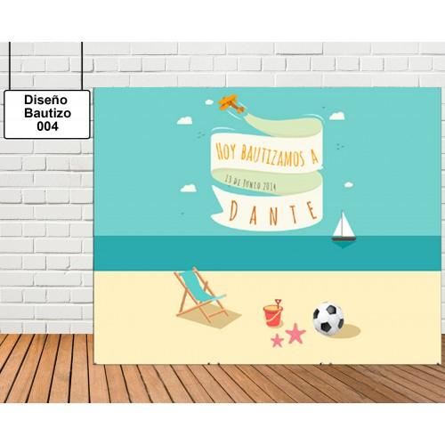 Diseño de Bautizo de Playa
