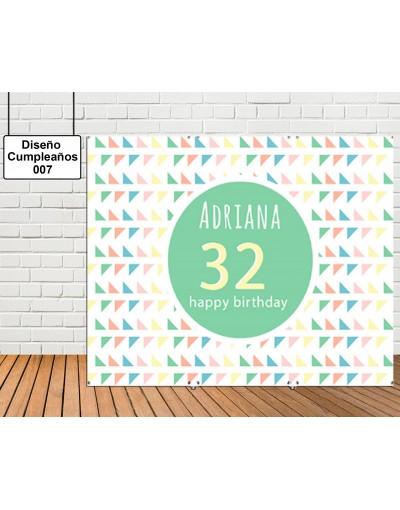 Diseño de Cumpleaños de Circulo de color