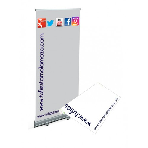 Lona de Roll up de 85x206 cm.