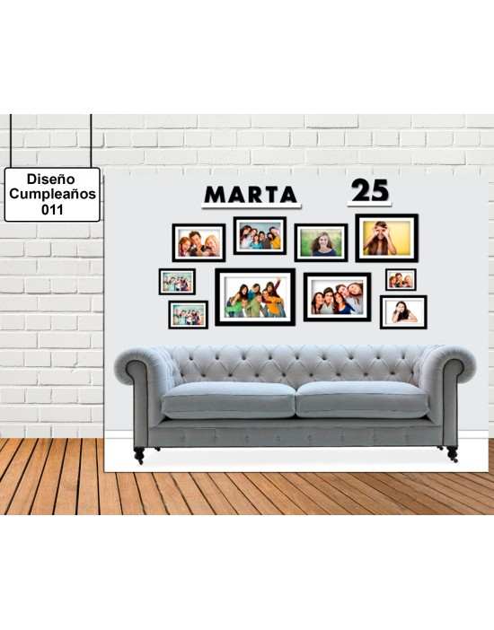 Diseño Cumpleaños de College Sofa
