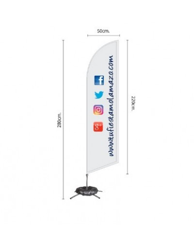 Photocall Fly Banner Surf 280 cm