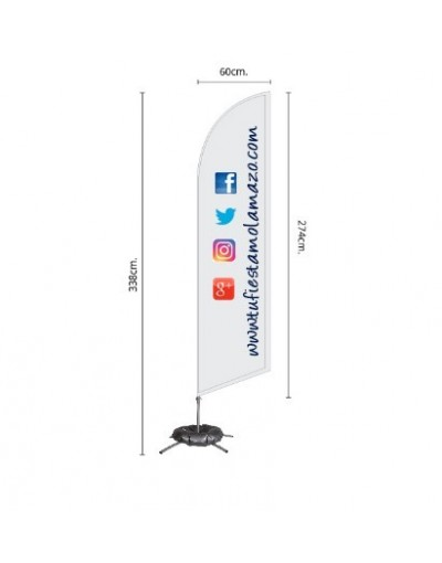 Photocall Fly Banner Surf 338 cm