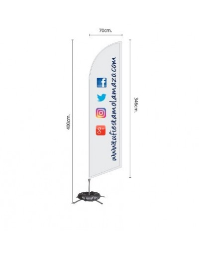 Photocall Fly Banner Surf 400 cm