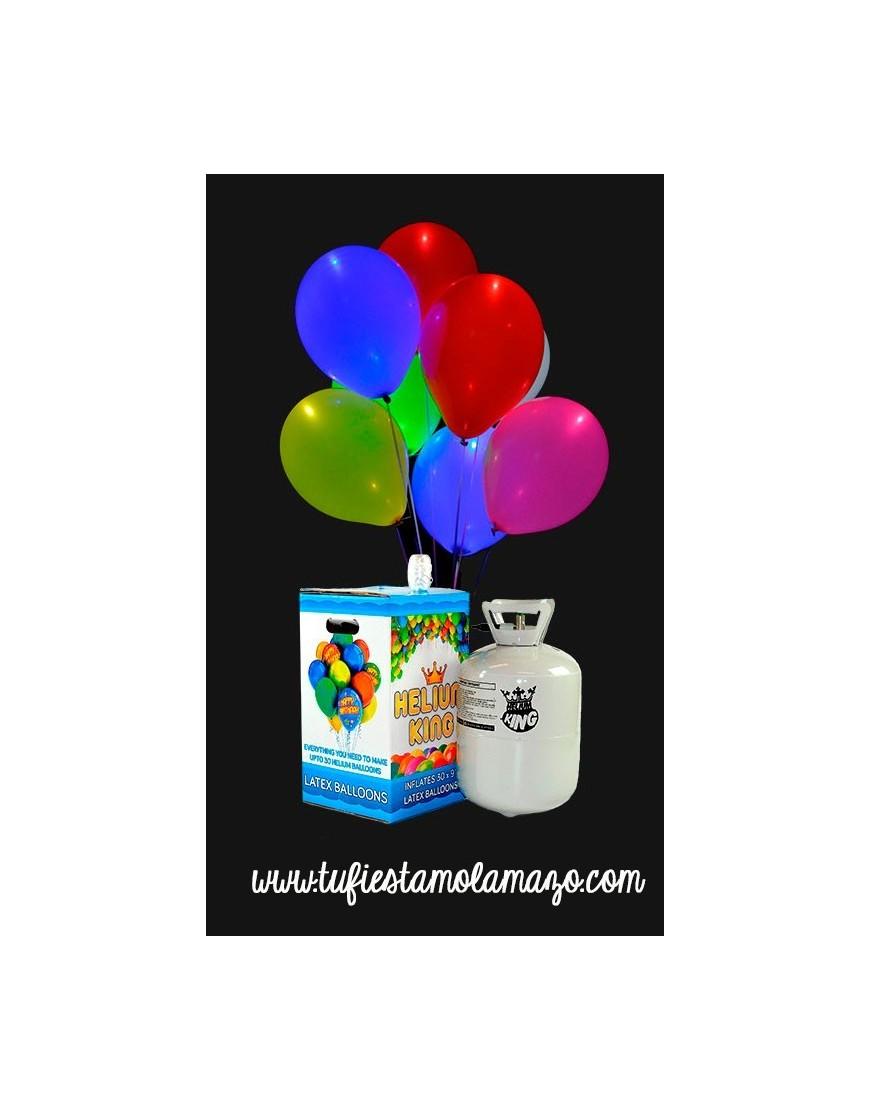 Pack de helio Maxi ms 15 globos LED colores Tu Fiesta Mola Mazo