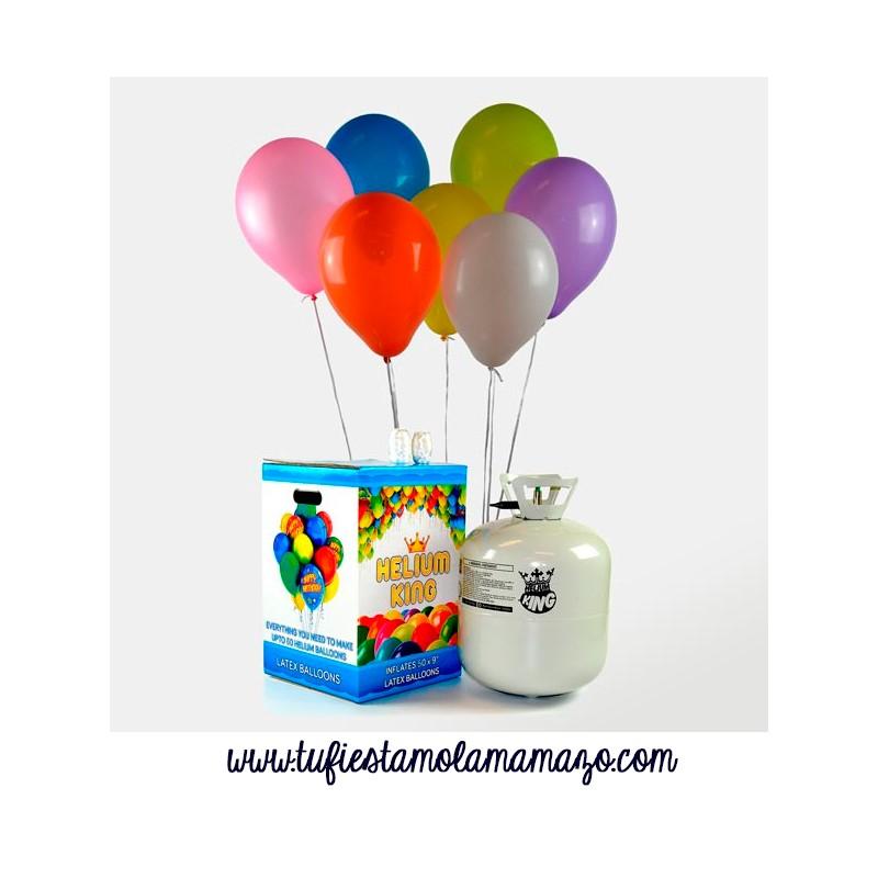 Pack de helio Maxi con 50 globos de colores