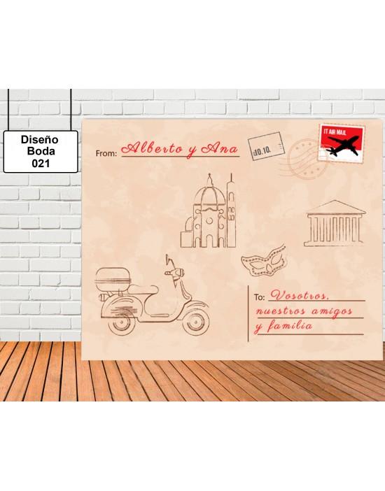 Diseño de Boda de Postal