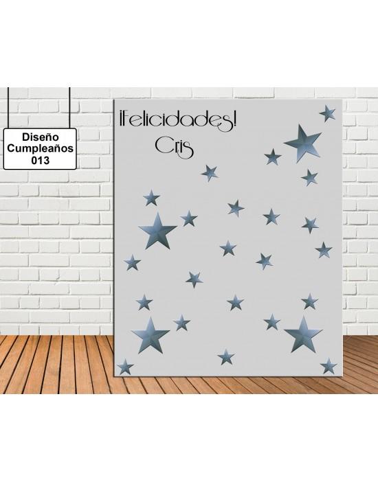 Diseño de Cumpleaños de Estrellas