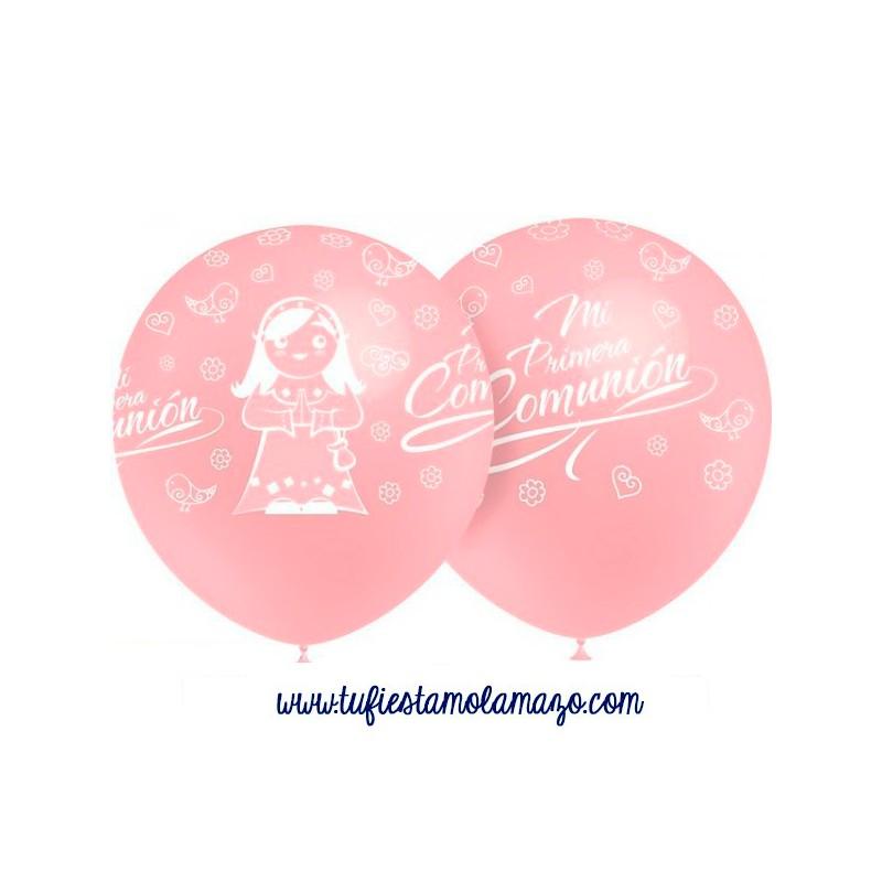 25 x Globos de látex rosa de Primera Comunión