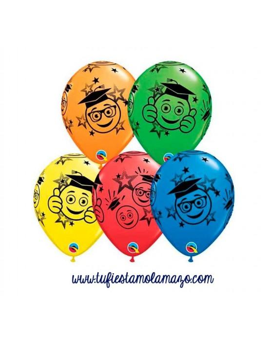 """Globos de colores 11"""" Graduados Sonrientes"""