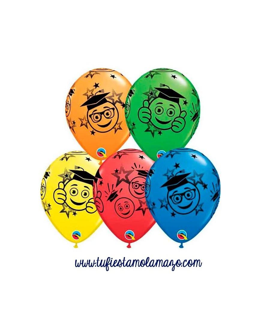 Globos de colores de Graduados Sonrientes Tu Fiesta Mola Mazo
