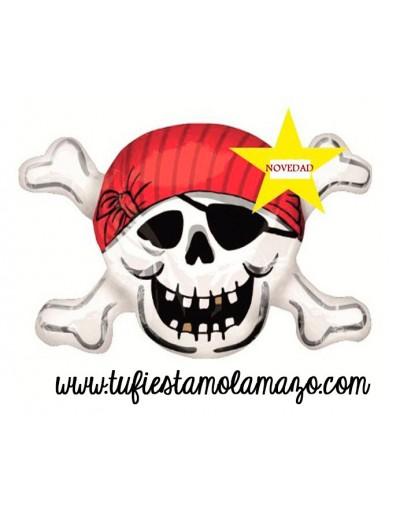Globos de foil forma de Calavera Pirata