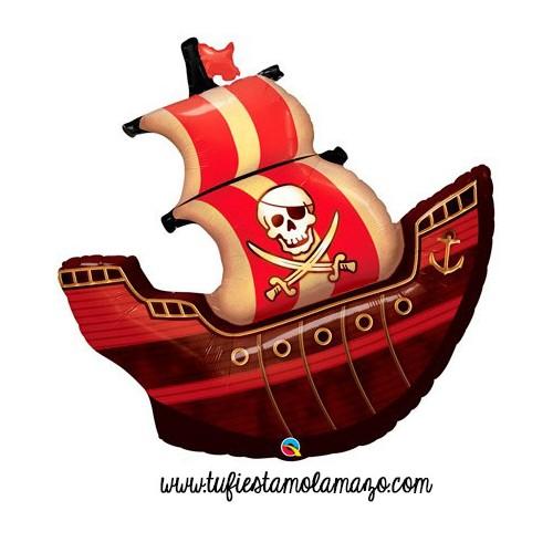 Globo de foil de barco Pirata 102 cm