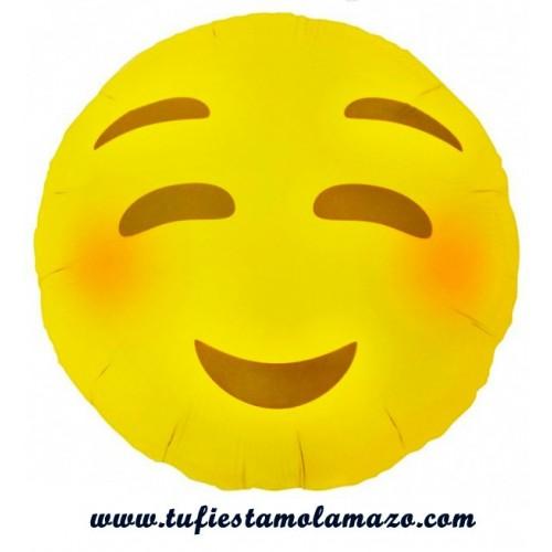 Globos de foil de EMOJI sonrojado