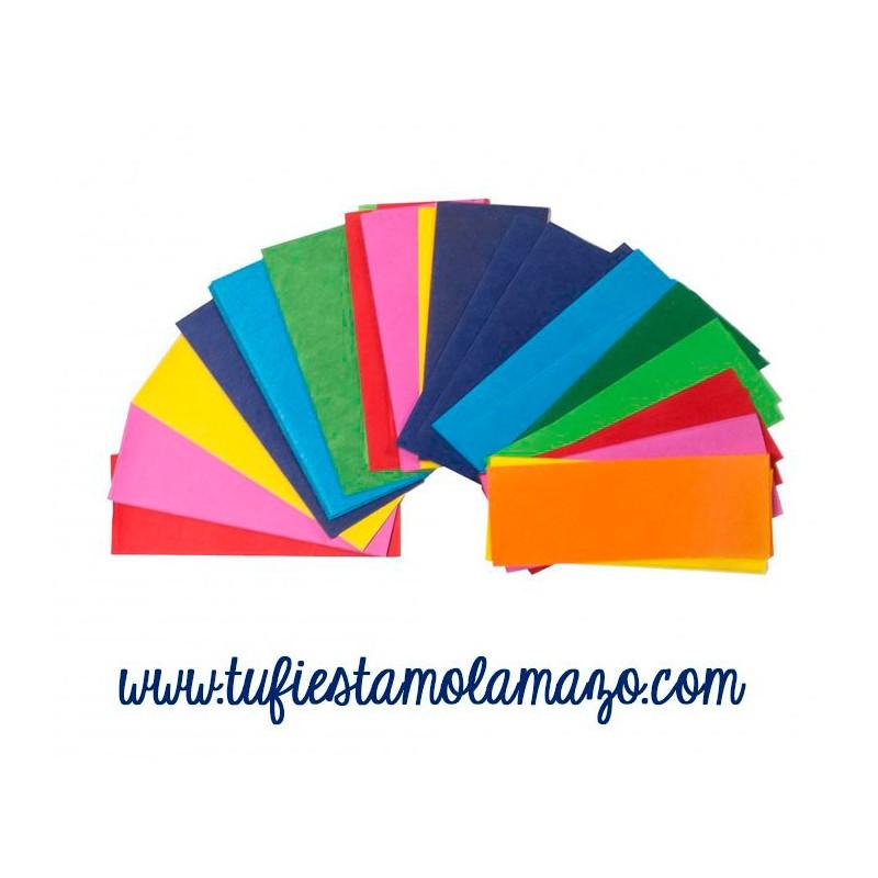 Confeti rectangular colores variados