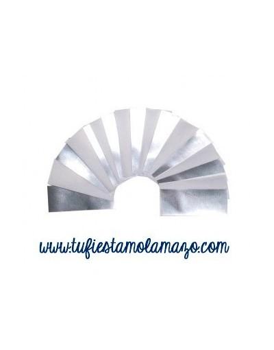 Confeti rectangular papel y brillo 2x5 cm 1kg