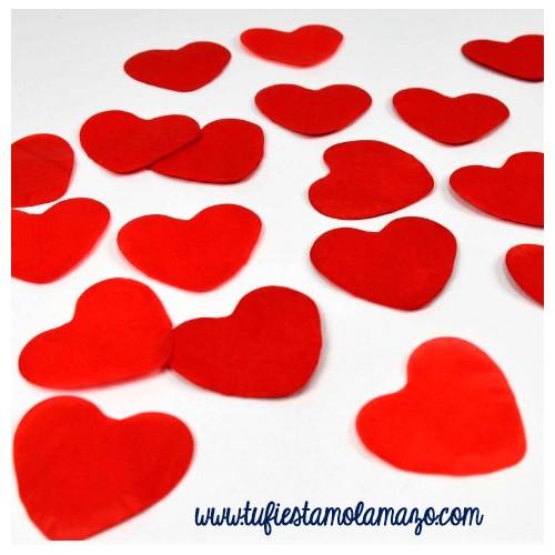 confeti de corazones