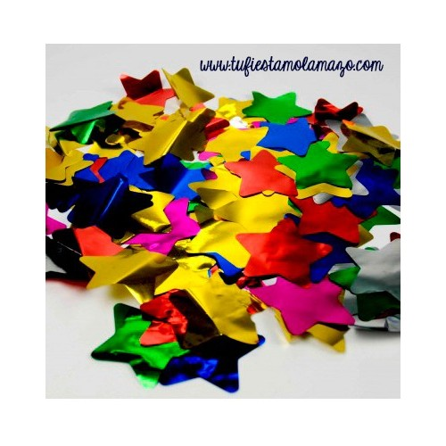 Confeti de estrellas colores
