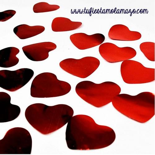 Confeti-corazones-brillante-rojo