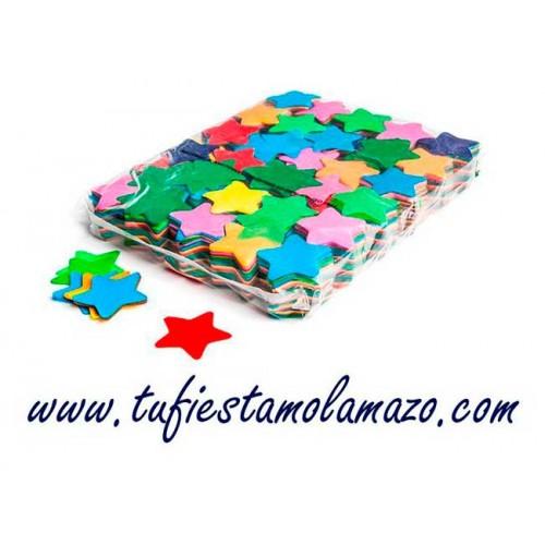Confeti estrellas papel seda colores