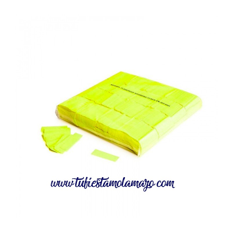 Confeti Rectangular Fluorescente