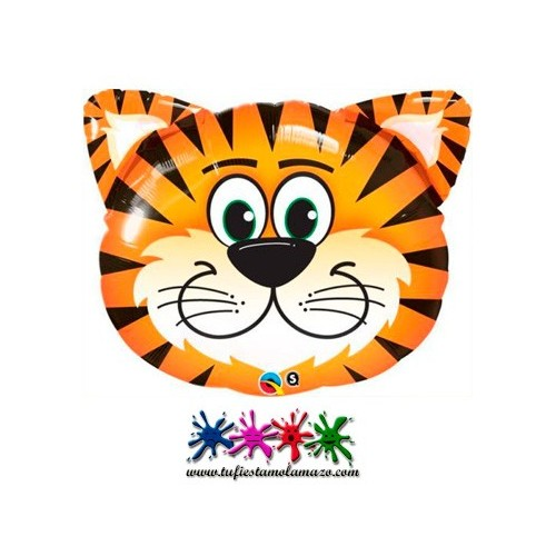Globo de foil con forma de tigre 76cm