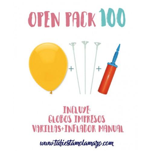 Pack 100 Globos Serigrafiados