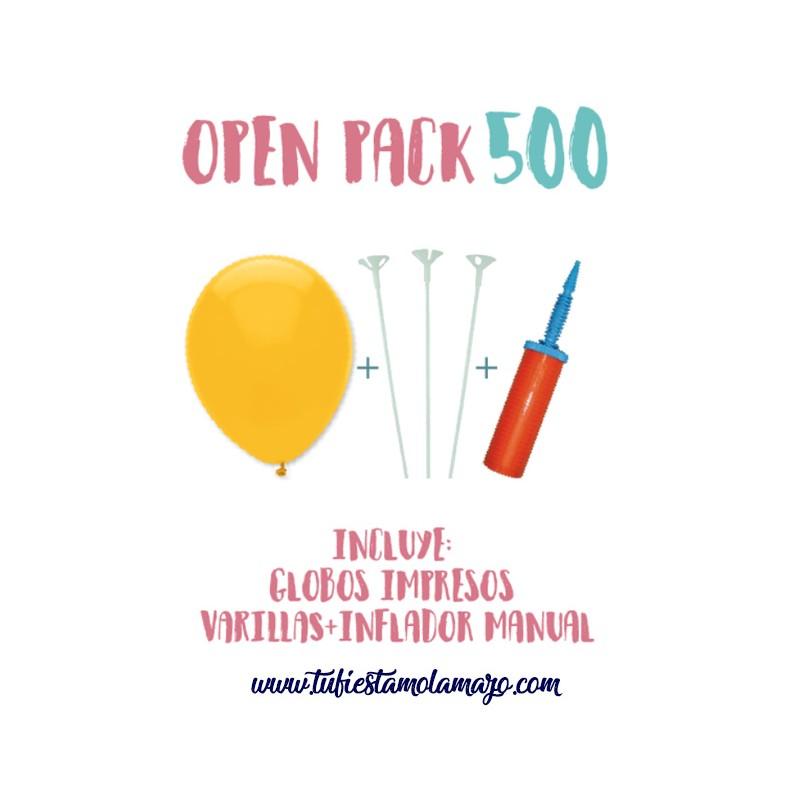 Pack 500 Globos Serigrafiados