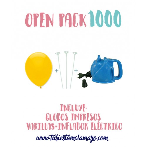 Pack 1.000 Globos Serigrafiados
