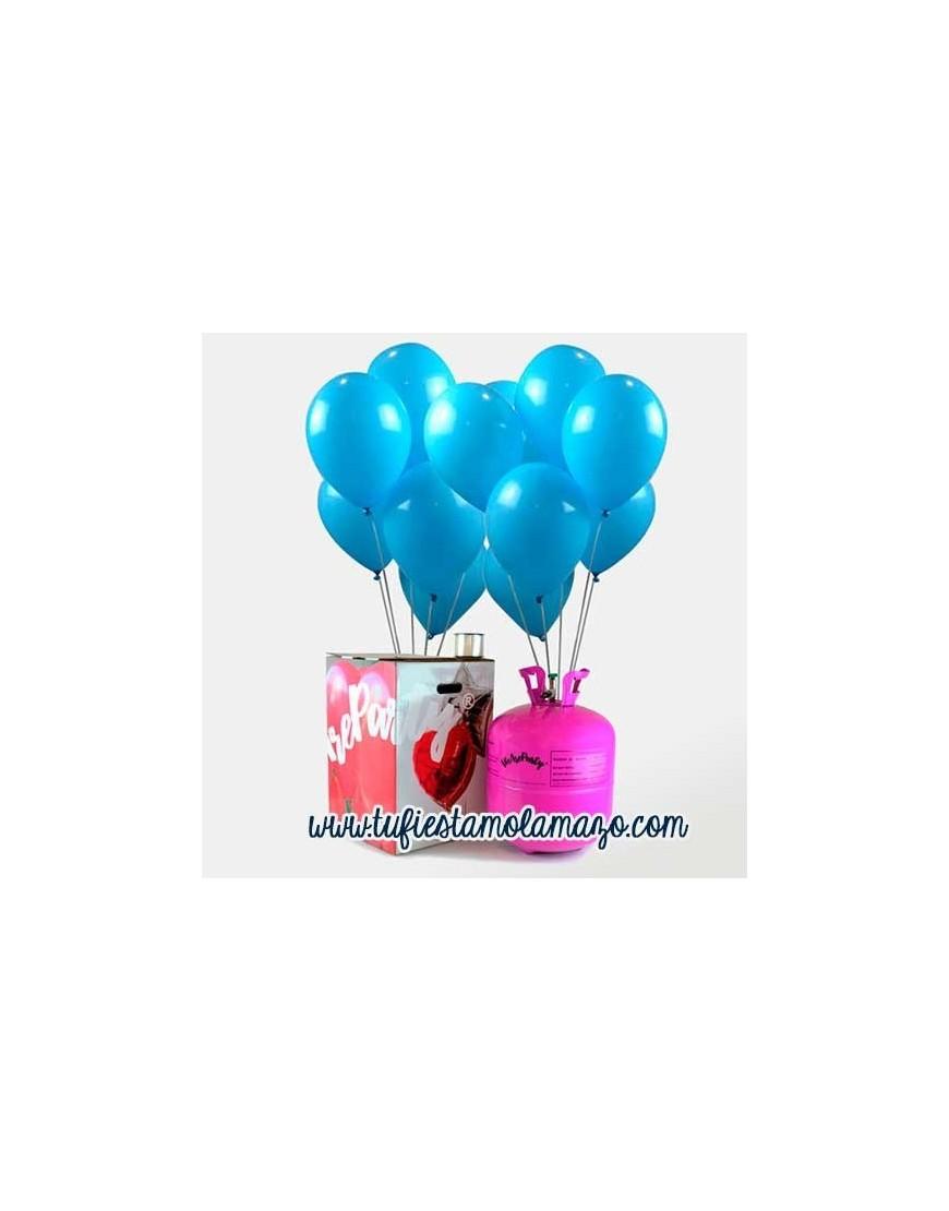 Pack Helio 50 Globos Azul Cielo