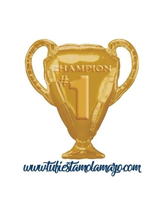 Globo de foil Trofeo de Champions 71 cm. Dorada